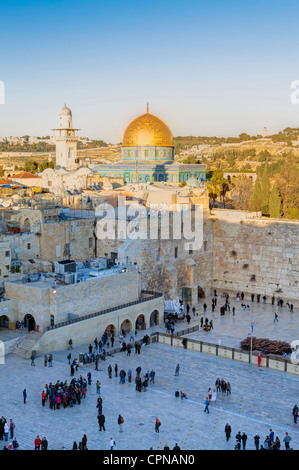 Middle East, Israel, Jerusalem, Old City, Jewish Quarter of the Western Wall Plaza - Stock Photo