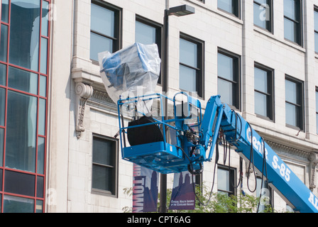 Friday, August 19, 2011, Movie set of Marvel's The Avengers (2012) movie being filmed in downtown Cleveland Ohio - Stock Photo