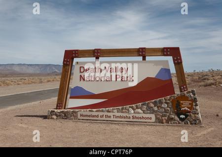 Death Valley Entrance - Stock Photo