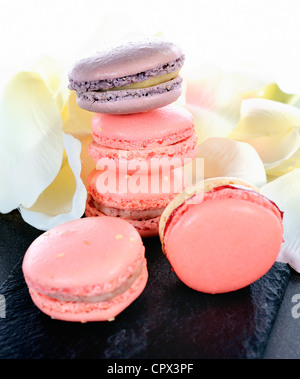 shaped macaroons for valentine's day or mother's day - Stock Photo
