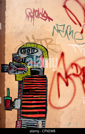 Graffiti on the wall in East London, London, United Kingdom - Stock Photo