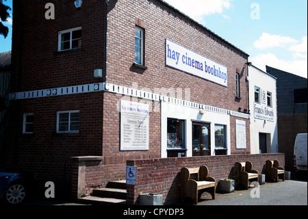 Hay Cinema Bookshop, Hay-on-Wye, England, - Stock Photo