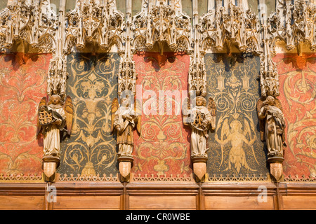 France Tarn Albi episcopal city listed as World Heritage by UNESCO sculptural detail of Stal of chancel of cathédrale - Stock Photo