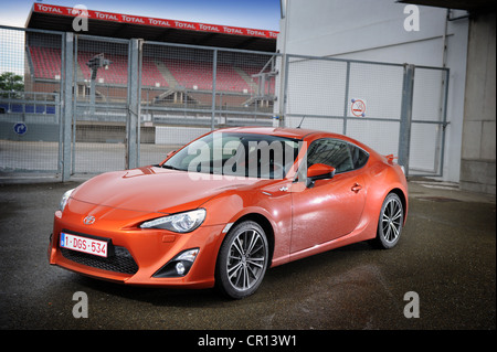 2012 Toyota GT 86 in orange at le mans - Stock Photo