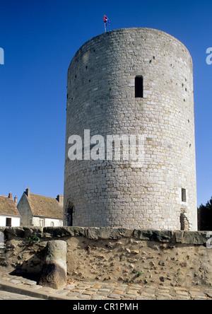 France, Essonne, Dourdan, dunjon of the castle - Stock Photo
