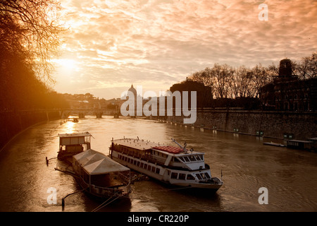 Boat on urban canal - Stock Photo