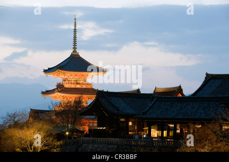 Japan, Honshu Island, Kinki Region, city of Kyoto, Kiyomizu Dera Temple UNESCO World Heritage - Stock Photo