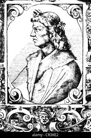 Matthias I Corvinus, 27.3. 1443 - 6.4.1490, King of Hungary 24.1.1458 - 6.4.1490, portrait, copper engraving, 17th - Stock Photo