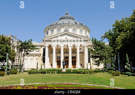 Romanian Athenaeum, philharmonic hall, concert hall, Bucharest, Romania, Eastern Europe, Europe - Stock Photo
