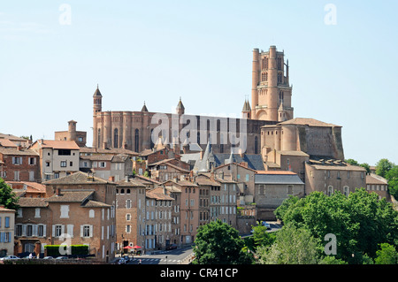 Cathédrale Sainte-Cécile d'Albi or Albi Cathedral, Albi, Departement Tarn, Midi-Pyrenees, France, Europe - Stock Photo