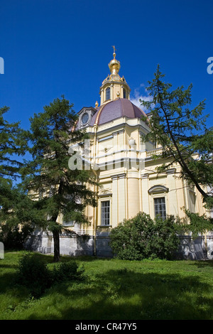 Russia, St Petersburg, UNESCO World Heritage, cathedral SS Peter and Paul in Peter and Paul Fortress - Stock Photo