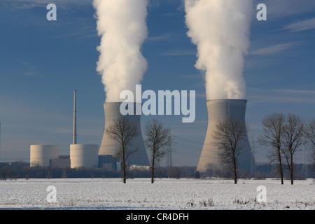 Gundremmingen Nuclear Power Plant, the most powerful German atomic power plant, Gundremmingen near Guenzburg, Bavaria - Stock Photo