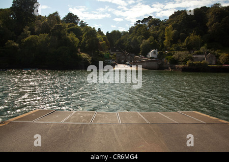 The King Harry Ferry Crossing,River Fal, Cornwall, South West England,United Kingdom. - Stock Photo
