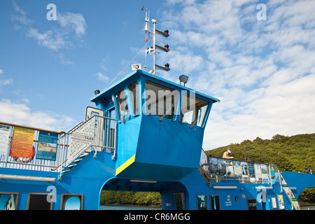King Harry chain ferry crossing the river Fal,Cornwall, England, United Kingdom. - Stock Photo