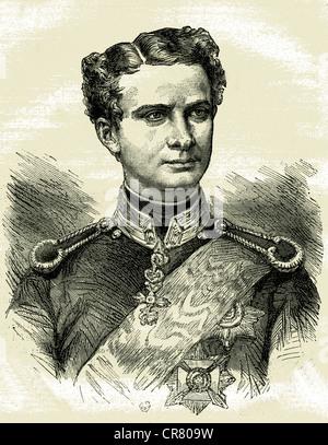 Ludwig II, King of Bavaria, 1845 - 1886, historical illustration, 1899 - Stock Photo