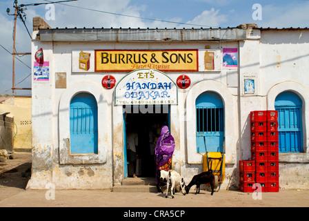 Store in Tadjoura, Djibouti, East Africa, Africa - Stock Photo