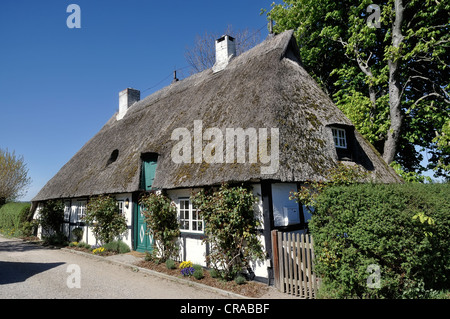 Half-timbered house, Sieseby on the Schlei river, Thumby, Rendsburg-Eckernfoerde district, Schleswig-Holstein, Germany, - Stock Photo