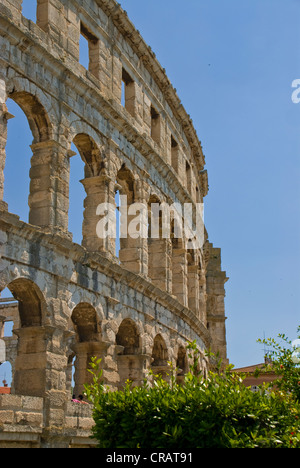 Pula Arena, a Roman amphitheatre, Istria, Croatia, Europe - Stock Photo