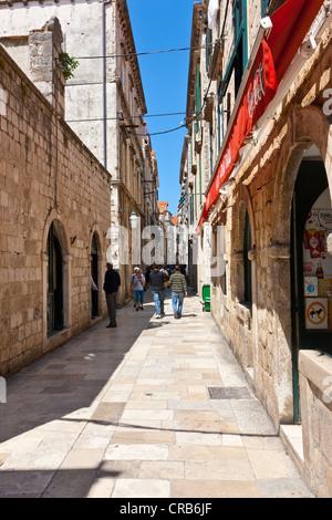 Od Pucain alley in the old town of Dubrovnik, UNESCO World Heritage Site, central Dalmatia, Dalmatia, Adriatic coast, - Stock Photo