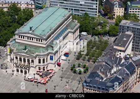 View over the Alte Oper, Opera House, Opernplatz square, Frankfurt am Main, Hesse, Germany, Europe - Stock Photo
