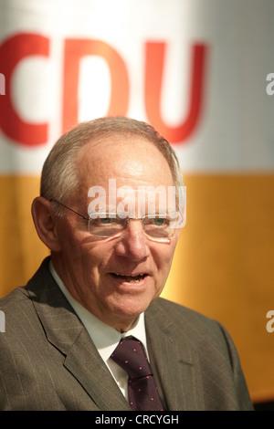 Federal Finance Minister, Wolfgang Schaeuble, Koblenz, Rhineland-Palatinate, Germany, Europe - Stock Photo