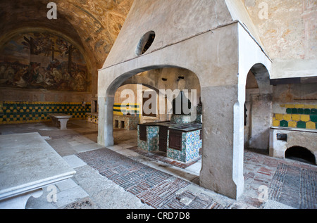 Europe Italy,Cilento, Padula, the kitchens of the Certosa of San Lorenzo - Stock Photo