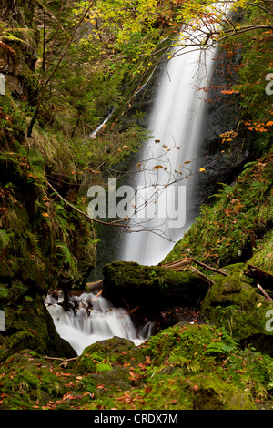Waterfall in the Ravenna Gorge in Hoellental valley near Freiburg in the Black Forest, Baden-Wuerttemberg, Germany, - Stock Photo