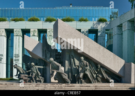 1944 Warsaw Uprising Monument in Warsaw, Poland - Stock Photo