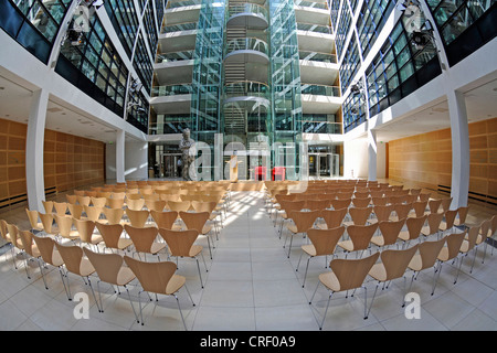 atrium of Willy Brandt Haus, Willy Brandt house, Germany, Berlin - Stock Photo