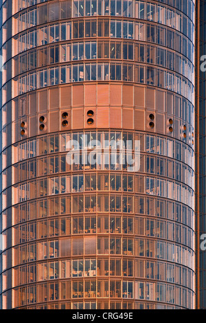 detail of RWE-Tower, highest building of the Ruhr district, Germany, North Rhine-Westphalia, Ruhr Area, Essen - Stock Photo