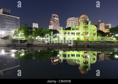 Hiroshima, Japan Peace Memorial Park and Atomic Bomb Dome. - Stock Photo