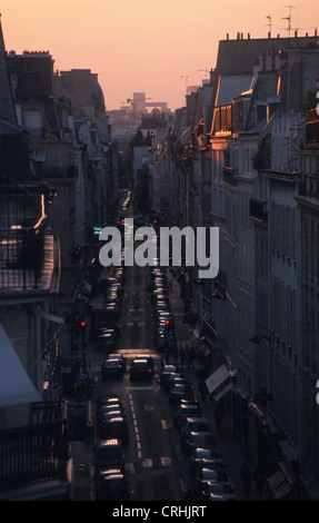 Paris, France over the roofs of Paris - Stock Photo