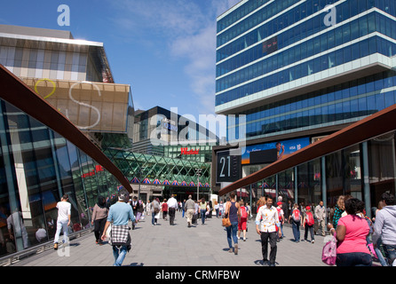 Entrance to Westfield Stratford City shopping centre, London - Stock Photo