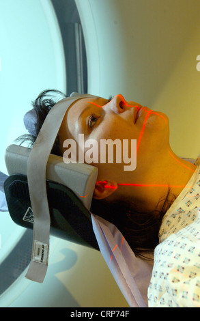 A patient having a CT scan - Stock Photo