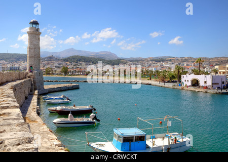 Venetian Port, Rethymno, Crete, Greece - Stock Photo