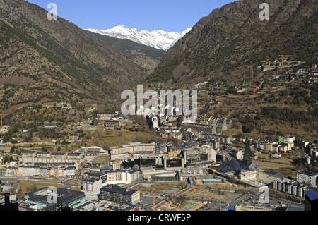 View of Andorra La Vella, Andorra - Stock Photo