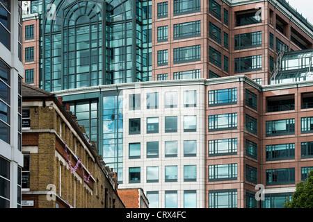 Bishopsgate buildings abstract. London, England - Stock Photo