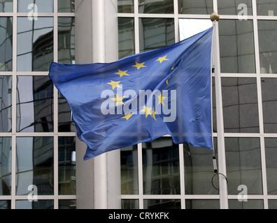 Belgium, Brussels, European Parliament - Stock Photo