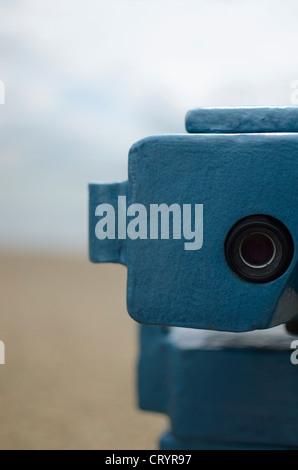 Seaside Binoculars, Southend-On-Sea Essex England - Stock Photo