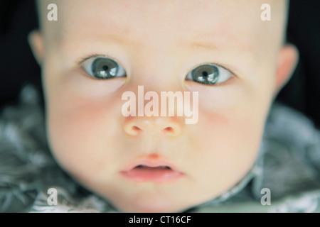 Close up of babys eyes - Stock Photo