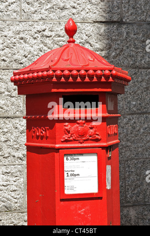 British Mail Box, London, England, UK. - Stock Photo