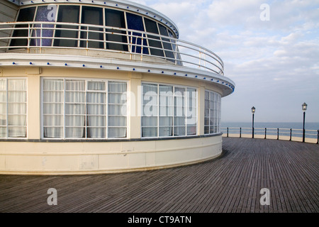 worthing pier on the east sussex coast - Stock Photo