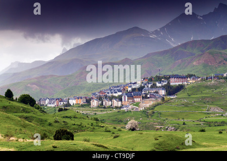 Formigal; Aragon;Spain; Pyrenees - Stock Photo