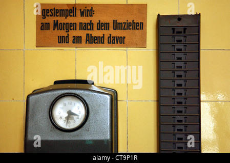 Berlin, clocking in an old factory - Stock Photo