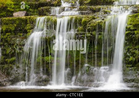 Waterfall, Wensleydale, Yorkshire Dales, England - Stock Photo