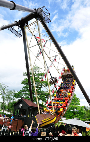 'Jolly Rocker' ride at Pirates Landing in Legoland Windsor Resort, Windsor, Berkshire, England, United Kingdom - Stock Photo