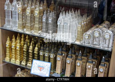 Big Ben tourist souvenirs for sale in London - Stock Photo