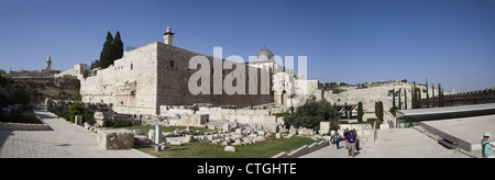 The Jerusalem Archaeological Park in Jerusalem, Israel - Stock Photo