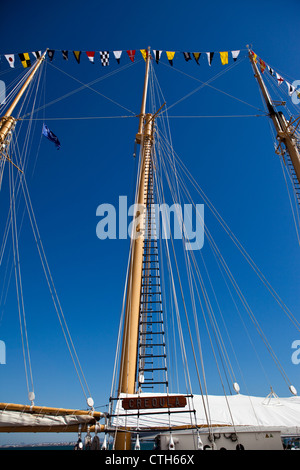 Creoula school ship, Lisbon, Portugal - Stock Photo