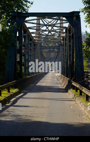 Old steel girder bridge - Stock Photo